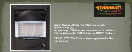 Widney Modena LPG Fire