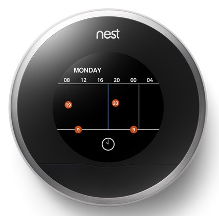 nest learning Auto-Schedule adjust the temperatures
