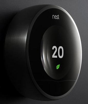 nest learning thermostat leaf