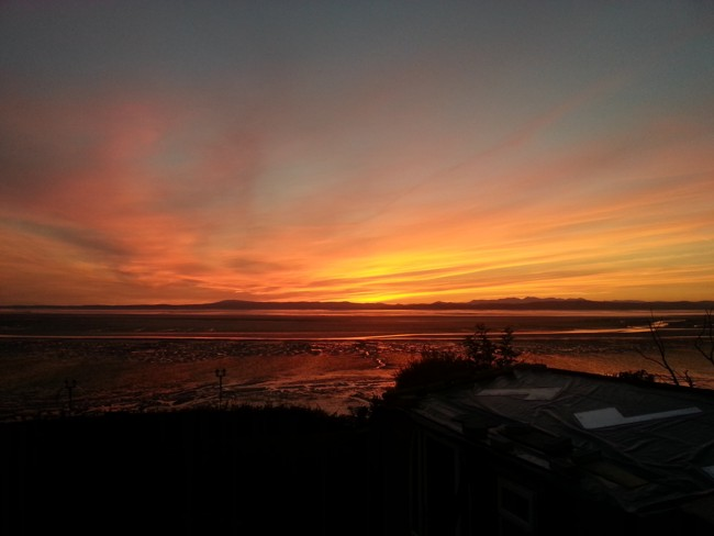 Morecambe Bay & Lakes Sunset